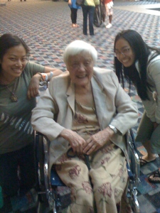 On Grace's 95th birthday: Marcia Lee, Grace Lee Boggs, Grace Lee
